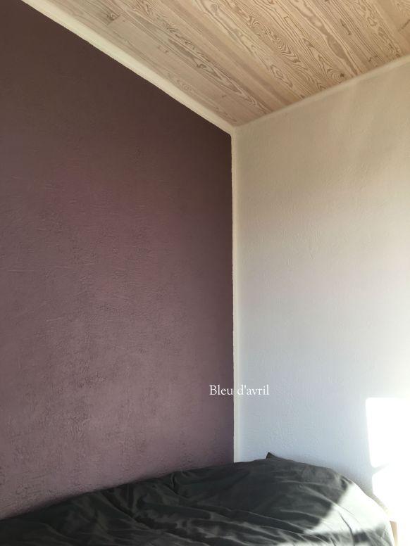mur pourpre chambre fini