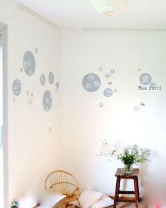 mur stickers bleus