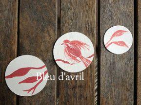 stickres roses oiseau
